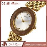 Reloj resistente del cuarzo de agua del acero inoxidable de la correa del oro de la manera