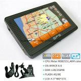 "Hot Sale 4.3 ""Car Truck Marine Navigation GPS avec Wince 6.0 Dual 800 MHz CPU, Transmetteur FM, AV-in pour stationnement Caméra GPS Navigation G-4303"