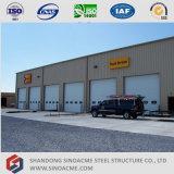 Centre de services préfabriqué de camion de structure métallique