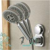 Crochet de cuvette réglable d'aspiration de tête de douche de support de mur de support de tête de douche de blocage de pouvoir