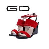 Сандалии Gdshoe модные красные для ботинок повелительниц лета красных