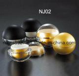 装飾的な瓶のアクリルの円形の丸い瓶(NJ02)