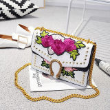 Spitzenverkaufenfrauen-Handtaschen stickten Blumen-Dame-einzelne Schulter-Beutel-verzierte Handtasche von den China-Lieferanten Sy8497