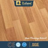 Suelo de madera de madera laminado laminado impermeable del roble blanco del vinilo de la nuez