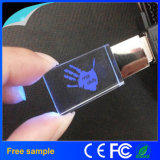 Vente en gros Free Company Logo LED Light Crystal USB Flash Drive