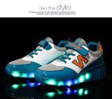 2016 يشعل جديات يبرق حذاء رياضة [لد] أحذية بالغ بكرة أحذية مع أضواء