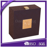 Упаковывать коробки кожи коробки подарка вахты логоса высокого качества изготовленный на заказ
