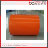 Le prix usine en acier de Baoshi a enduit la bobine d'une première couche de peinture en acier laminée à froid pour des matériaux de construction