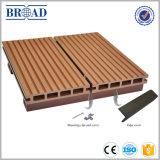 Plancher extérieur composé en plastique en bois de Decking de la qualité WPC