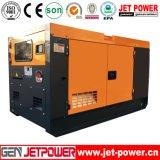 генератор 50kVA молчком тепловозного электрического генератора 40kw установленный трехфазный