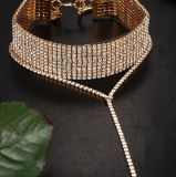 De Halsband van de Juwelen van de Tegenhanger van het Bergkristal van de Halsband van de Nauwsluitende halsketting van het Kristal van de Luxe van vrouwen