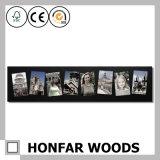 装飾のための木映像の写真フレームを立てる現代黒