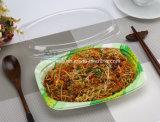 550ml 꽃 인쇄된 쌀 국수 처분할 수 있는 플라스틱 음식 쟁반