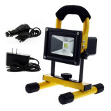 20W COB Recarregável Solar LED Inundação Work Light, Water Resistant Cordless Rechargeable Camping Lamp