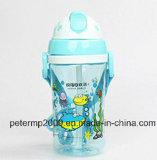 370ml Garrafa de água dos desenhos animados dos miúdos, garrafa de água plástica, Copo bebendo dos miúdos bonitos (hn-2903)
