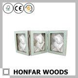 Cadre de tableau en bois d'illustration de famille de 3 bâtis pour la décoration
