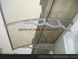 Riparo della finestra del baldacchino del portello della tenda del policarbonato dello strato PPO 1.5m del tetto del materiale da costruzione