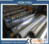 電流を通された鋼鉄波形の鋼板