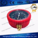 70mmの500psi R-22/R-12/R-134Aのための赤いゴム製コートの冷凍の圧力計