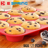 Hot Selling Eco-Friendly Muffin Cup Silicoe Baking Cake Moule Molle de gâteau au chocolat