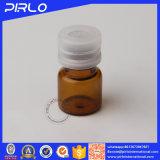 la fiala ambrata della bottiglia di vetro 1ml con strappa fuori il coperchio per la fiala di vetro del campione dell'olio essenziale di uso medico