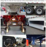 100tons容器の平面トレーラー3の車軸への80tons