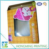 Vêtements faits sur commande de bébé de guichet de PVC de carton empaquetant le cadre