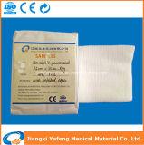 Tampone non sterile della garza del cotone assorbente di vendita calda 7.5cmx7.5cm