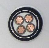 Baixo e condutor médio Powercable isolado XLPE do cobre da tensão