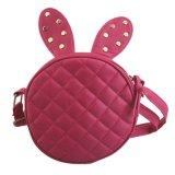 Coelho Ear Style Round PU Leather Handbag Cute Crossbody Bag