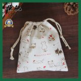 Bolso promocional del regalo del algodón del lazo de encargo de la lona para empaquetar