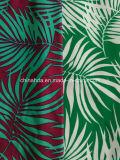 Grünes Bambusblatt-Drucken-Gewebe für Badebekleidung (HD1401097)