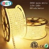 Illuminazione di striscia del nastro 220V 5050 RGB LED di ETL 120V LED
