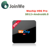 Rectángulo del androide 6.0 TV de Wechip H96 de la base de Amlogic S912 Octa FAVORABLE