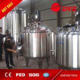 1000L--fermenteurs coniques de matériel de brasserie de la bière 10000L, bière de refroidissement de jupe de bosse d'acier inoxydable