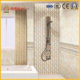 Azulejo esmaltado de cerámica de la pared interior de la venta caliente para el cuarto de baño