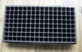 Bac de fleur de Balck picoseconde de 128 cellules pour le plateau de graine de HANCHES de noir de jardin