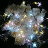 Luces de la secuencia del alambre de cobre estrelladas Micro estrellas de mar se enciende para el tanque de pescados de la decoración del hogar