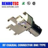 Connecteur coaxial femelle en alliage de zinc de support de carte de BNC