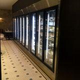 먼 유형 냉장고 검정 프레임 유리제 문 냉각기