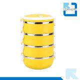 1-4 laag om de Doos van de Lunch van het Roestvrij staal van het Metaal/Geïsoleerded Lunchbox