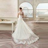 Il merletto di Tulle di alta qualità Appliques il vestito da cerimonia nuziale della sirena del fiore 2017