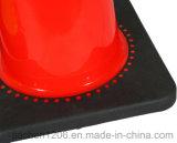 Fábrica de Jiachen Cone de tráfego de PVC de 28 polegadas com base preta