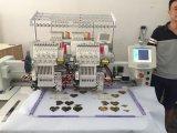 Venta caliente de 2 pistas que sujeta con cinta adhesiva la máquina mezclada plana Wy902c/1202c del bordado de la camiseta del casquillo