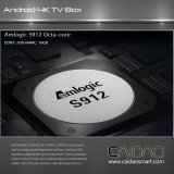 Cadre androïde intelligent S912 Octacore Tvbox 7.0 Media Player d'Amlogic Tvbox 2GB 16GB TV de PRO Octa du faisceau 64 de Caidao cadre du bit TV