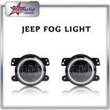 Lumière de brouillard à LED de 4 pouces pour Jeep Wrangler Fonction RVB Bluetooth Control LED Fog Lamp avec Halo Ring