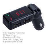 Audio de voiture Lecteur de musique MP3 Mains libres Bluetooth Transmetteur FM avec double chargeur de voiture USB