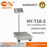 prix de corps en métal de l'acier inoxydable 100kg calculant la balance électronique de Platfrom