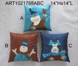 산타클로스, 눈사람 및 큰사슴 크리스마스 훈장 화환, 3 Asst