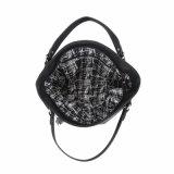 Grandi sacchetti di Tote d'avanguardia della nappa e della treccia per le donne (MBNO041088)